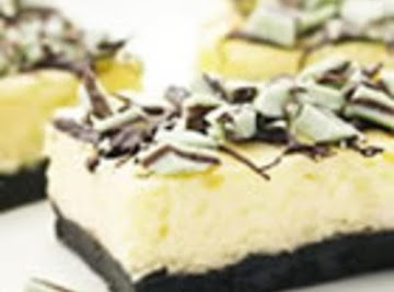 Chocolate Mint Cheesecake Bars Recipe