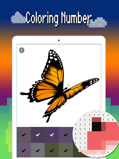 Butterfly color by number : Bugs coloring book apktram screenshots 14