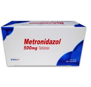 metronidazol 500mg 10tabletas blister alfa