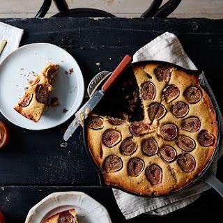 Cornbread Coffee Cake with Fresh Figs and Walnut Streusel Recipe