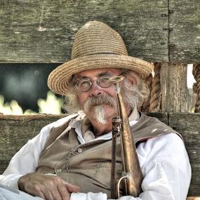 The Bugler  by Guy Longtin - People Portraits of Men (  )