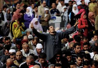 Photo: Rezo de los manifestantes durante la manifestación «El viernes de la última oportunidad». Fotografía: ESAM OMRAN AL-FETORI | Reuters