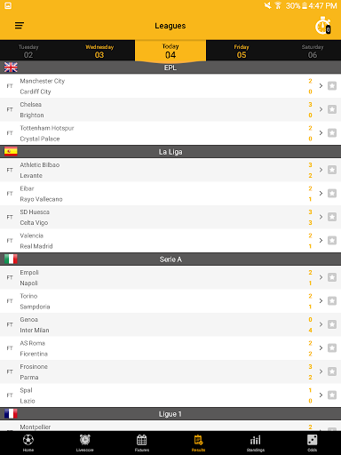 Live Soccer Scores 2.1.0 screenshots 12