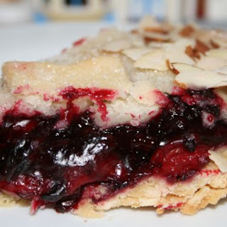 Frosted Cherry Blackberry Pie