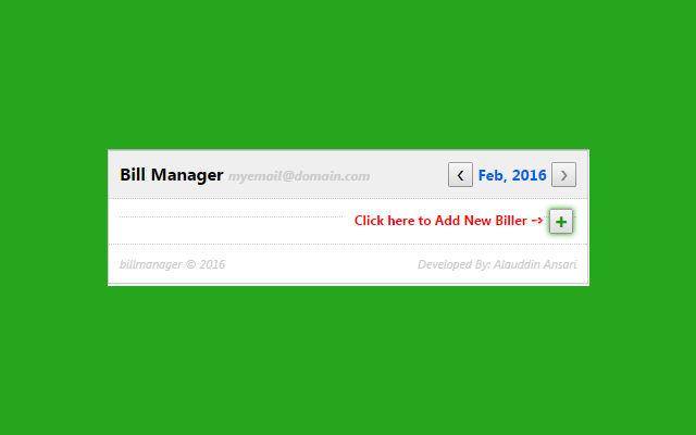 Bill Manager Chrome Web Store - Create invoice google docs walmart store online