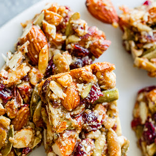 Spiced Pumpkin Seed Cranberry Snack Bars