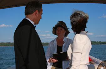Photo: Eloping on a Boat! - http://WeddingWoman.net