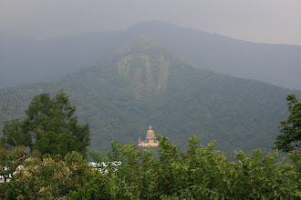 Photo: Great Budda statue seen from Piao I headquarters and factory.