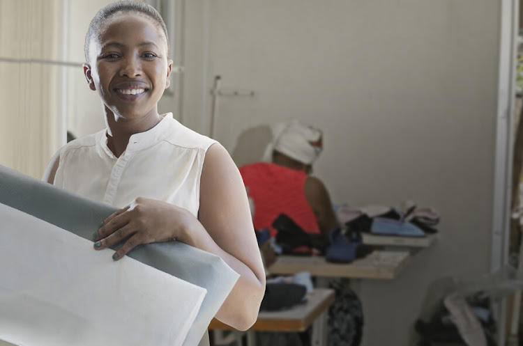 Silokotho owner-operator Khanyisile Kunene heads up a team of energetic seamstresses who create the polypropylene bags in which Beier Envirotec filter bags are packed. Picture: SUPPLIED/BEIER GROUP