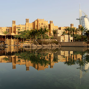 Souk Madinat Reflection by Anthony Lawrence Gampon - Buildings & Architecture Other Exteriors