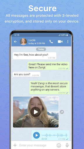 Zangi Private Messenger screenshots 1