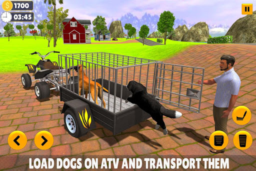 Pet Dog ATV Trolley Cargo Transport 8.1 screenshots 2