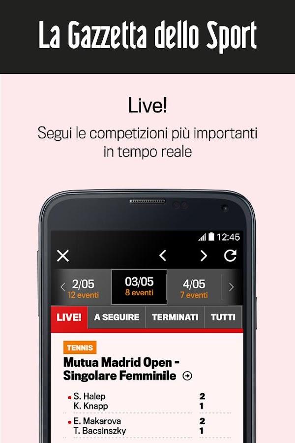 La gazzetta dello sport app android su google play for Smartphone ultime uscite