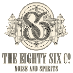 Logo for The Eighty Six Co. Noise and Spirits