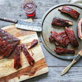 Smokey BBQ Pepper Jelly Pork Ribs.