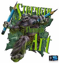 Photo: New Strength Through Art design this time featuring the H-Beast! You can buy this as a sticker here:http://www.stickermule.com/marketplace/2245-strength-through-art-hbeast-pencils
