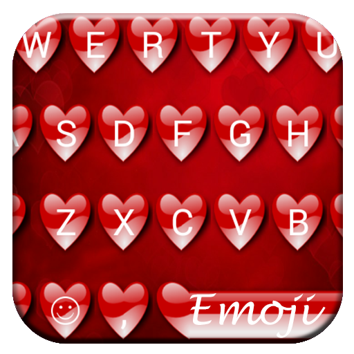 Valentine Red Emoji Keyboard