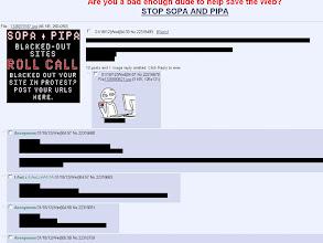"""Photo: Das Forum 4chan, eines der meistbesuchten Seiten des Internets, """"zensiert"""" alle Einträge aus Protest einfach selbst. (Quelle: 4chan.org)"""