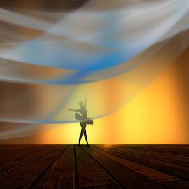 Attitude  by Josh Adamski - Illustration People ( photo illustration, ballet )