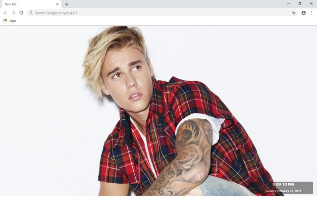 Justin Bieber New Tab & Wallpapers Collection