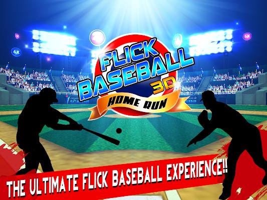 Flick Baseball 3D - Home Run - screenshot
