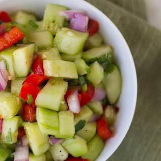 Sweet Chilli Thai Cucumber Salad.