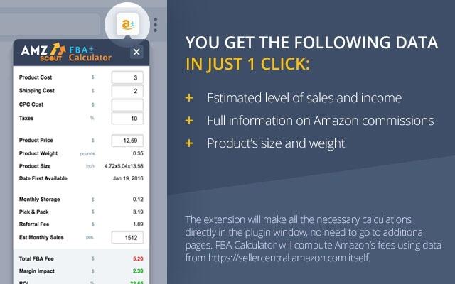 FBA Calculator Free Extension