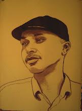 Photo: Portrait of Hassan in progress