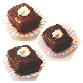 Luscious Chocolate Cakes With Whipping Cream.