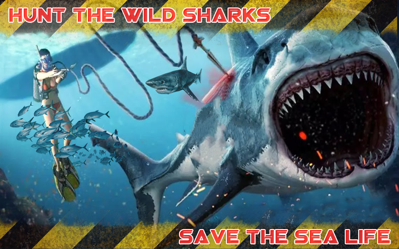 wild shark fish hunting game android apps on google play