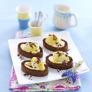 Chocolate Eggnog Swiss Roll.