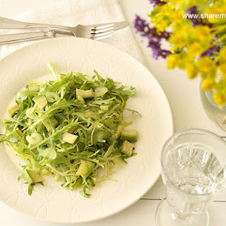 A Very Green Salad With Ginger Vinaigrette