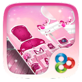 Pink Girl GO Launcher