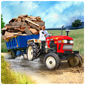 Heavy Duty Tractor Cargo Transport 3D