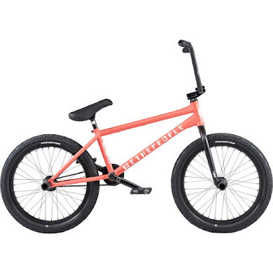 "We The People Battleship BMX Bike - 20.75"" TT, Matte Coral Red, Left Side Drive"