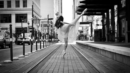 Street art. Ballet. Wallpaper