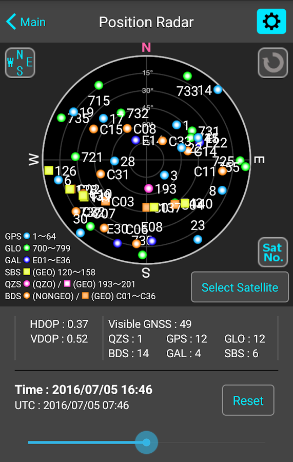 GNSS View- screenshot