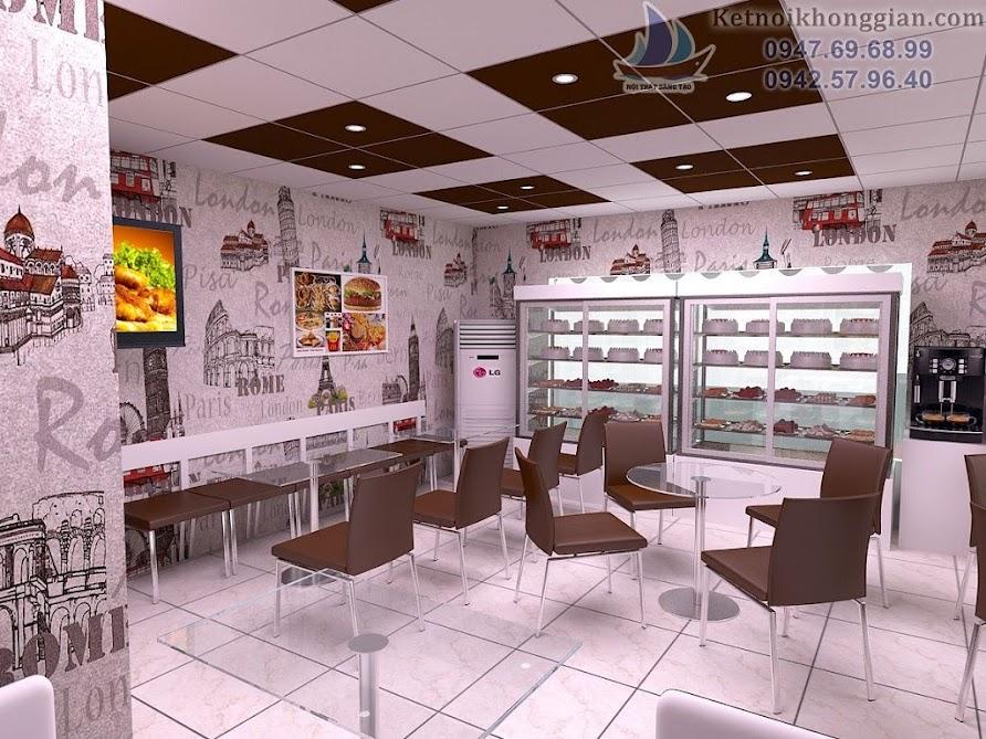 thiết kế cửa hàng bánh kem độc đáo