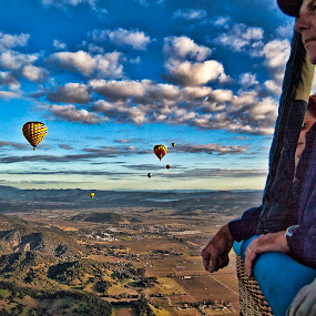 The Valley Below by Don Chamblee - Landscapes Mountains & Hills ( clouds, ariel view, balloon, napa )