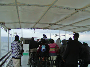 Photo: Once on the boat, we discovered we were in the company of a group of Nigerian pilgrims.