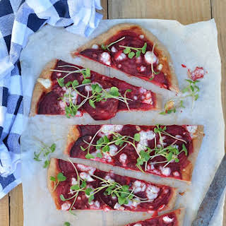 Spelt Pizza with Beet.