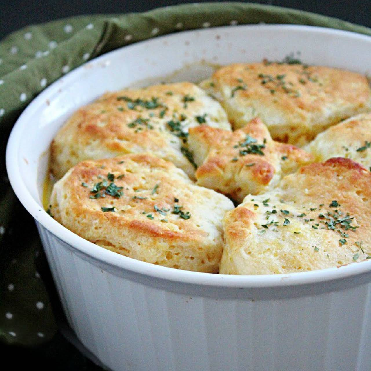 Chicken Pot Pie  taking into consideration Biscuits