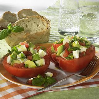 Tomato, Mozzarella and Avocado Salad.