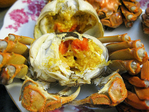 chinese, crab, european, hairy crab, mitten crab, netherlands, recipe, shanghai crab, steamed crab, steamed hairy crab,  清蒸, 大閘蟹