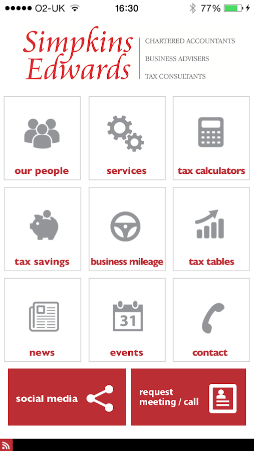 Simpkins Edwards Accountants- screenshot
