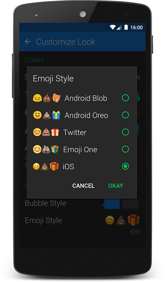 how to change emoji style on android