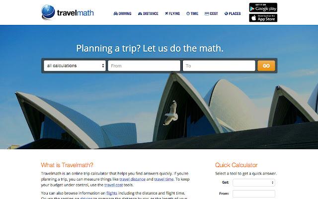 Travelmath Chrome Web Store
