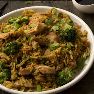 Chicken & Broccoli with Garlic Ginger Rice.