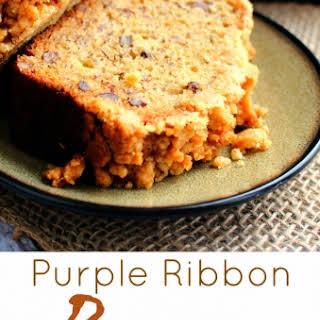 Purple Ribbon Banana Bread.