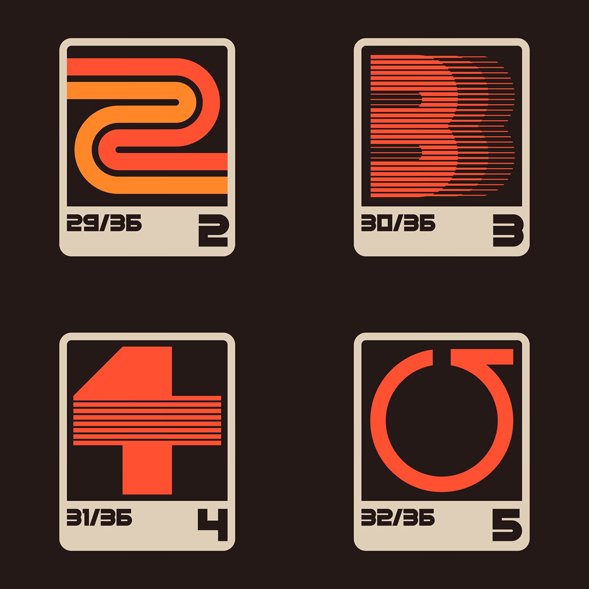 36 days 36 days of type letters poster Retro